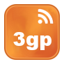 Icono RSS videos en formato 3gp